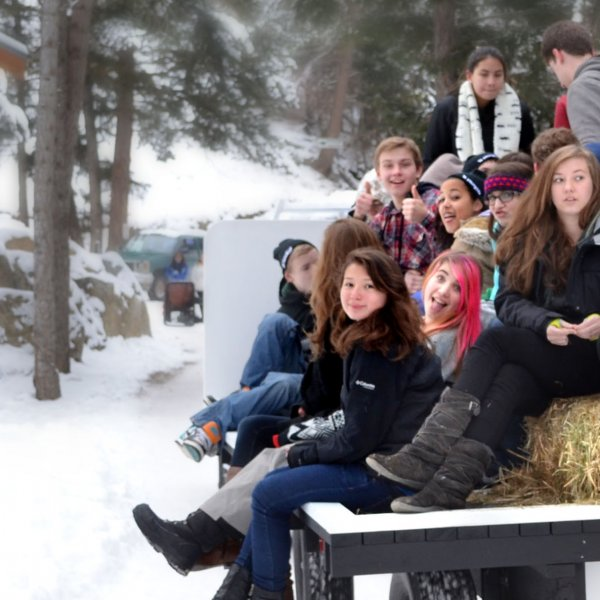 Winter Snow Hayride RockRidge Canyon Retreat Centre