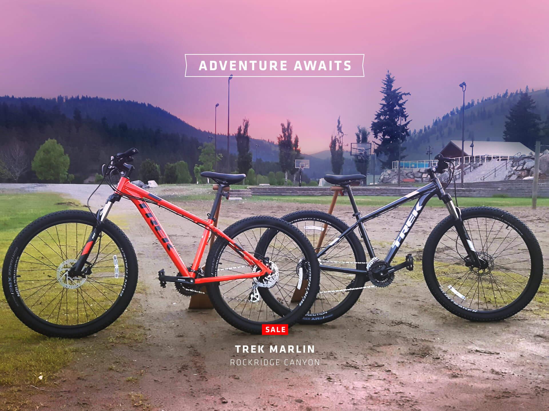Mountain Bikes at RockRidge Canyon Retreat Centre